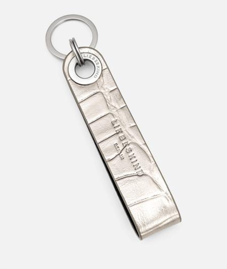 Schlüsselanhänger mit Krokoprägung