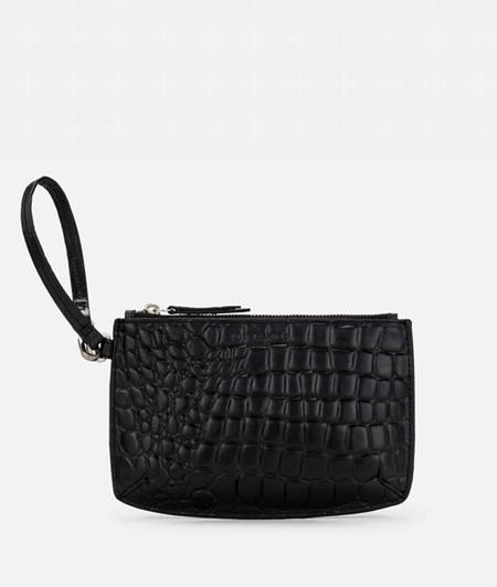 Make-up bag with crocodile embossing from liebeskind