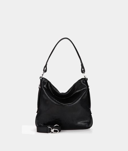 Hobo Bag in Schlangenhaut-Optik
