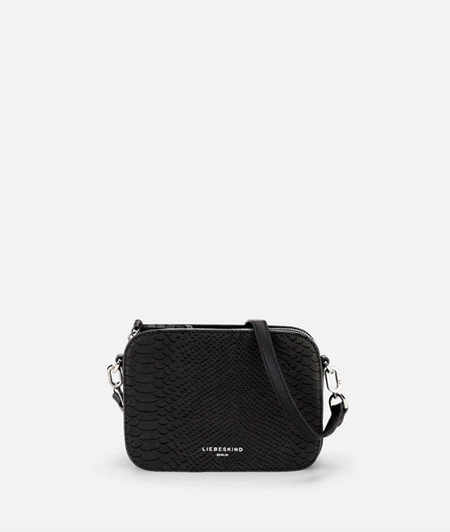 Box-shaped shoulder bag with a python pattern from liebeskind