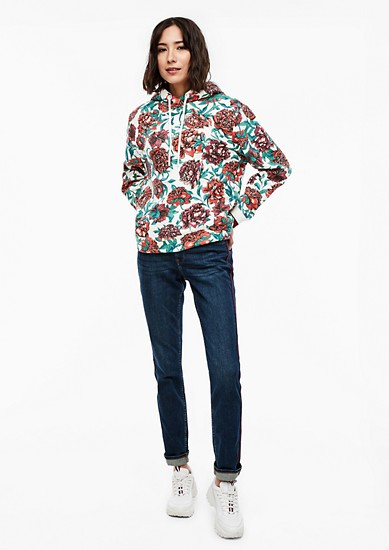 Hoodie with a floral print from s.Oliver