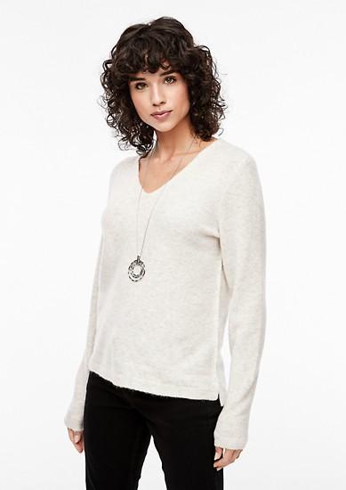 V-neck jumper in soft blended wool from s.Oliver