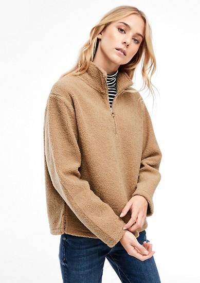 Sweatshirt aus Teddyplüsch