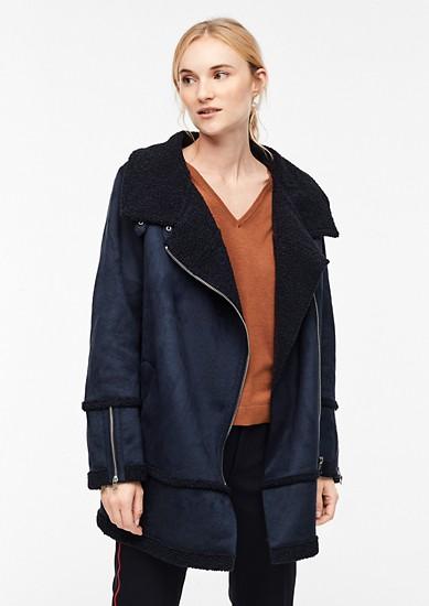 Manteau d'aspect fourrure d'agneau de s.Oliver