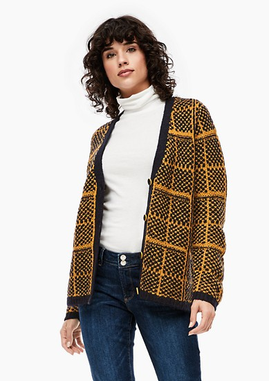 Warm check cardigan from s.Oliver