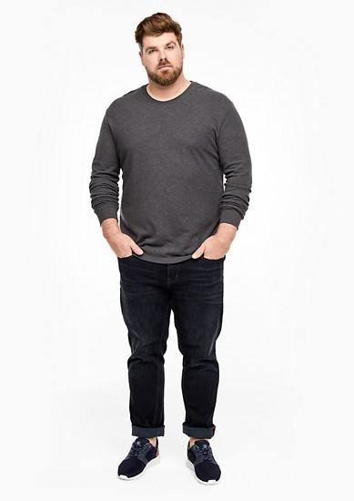 Langarmshirt aus Doubleface-Piqué
