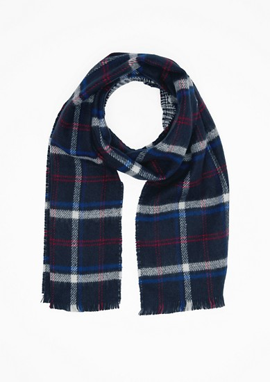 Check woven scarf from s.Oliver