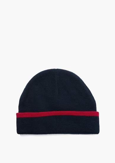 Pletená čepice s kontrastním okrajem