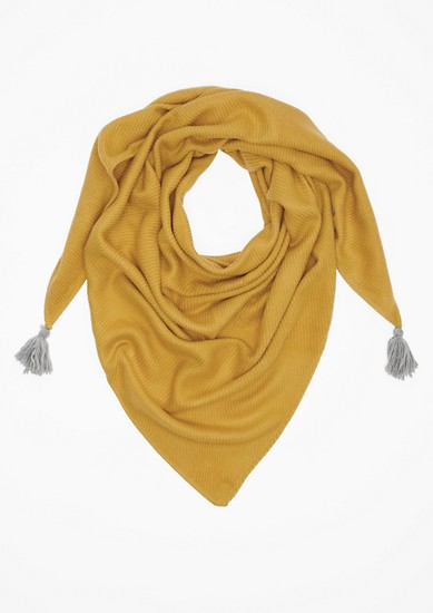 Triangle scarf with tassels from s.Oliver