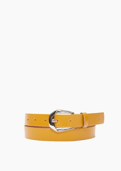 Leather belt with an elegant buckle from s.Oliver