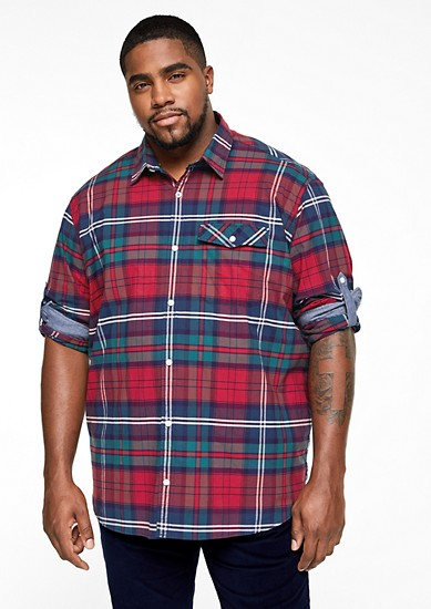 Regular: overhemd met een ruitmotief