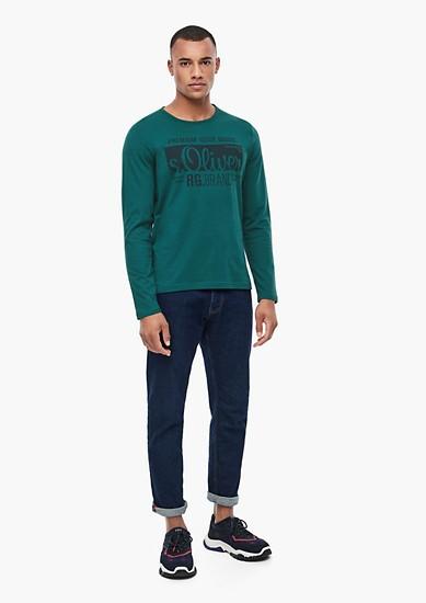 Tall Size: Langarmshirt mit Label-Print