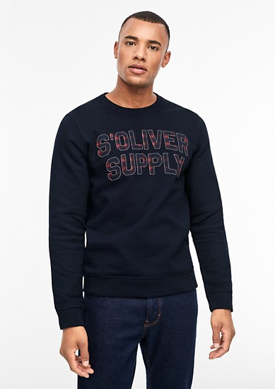Tall Size: Sweater mit Label-Patches