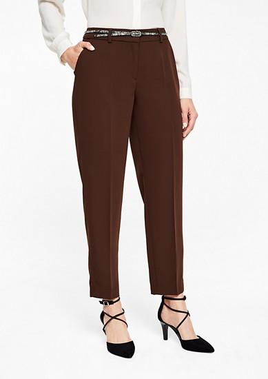 Rita Comfort: pantalon en twill muni d'une ceinture de s.Oliver