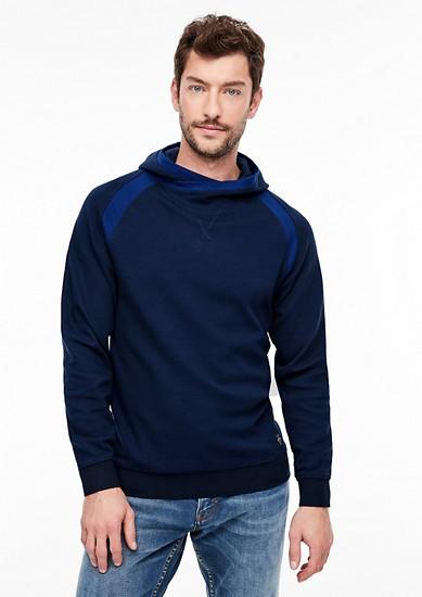 Sweatshirt mit Kontrast-Details