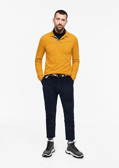 Slim: Piqué long sleeve polo shirt from s.Oliver