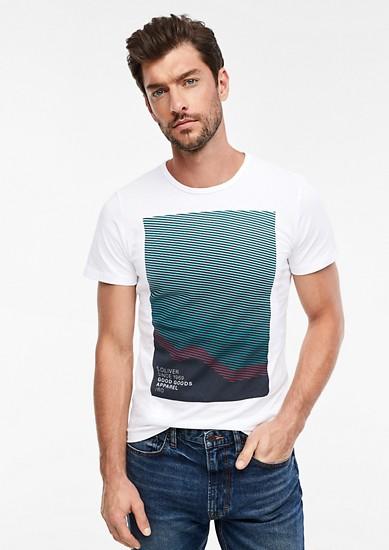 Slim: T-shirt met een print op de voorkant
