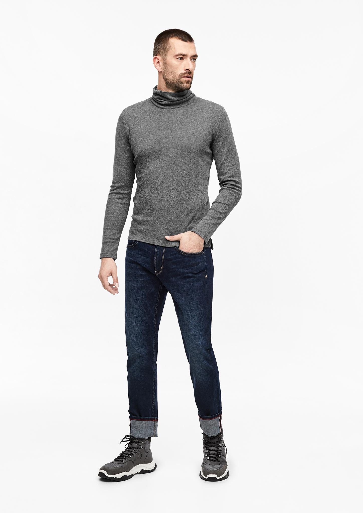 s-Oliver-Casual-Men-Langarmshirt-mit-Rollkragen-Neu Indexbild 3