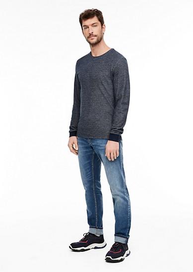 tričko s dlouhým rukávem se strukturovaným vzorem