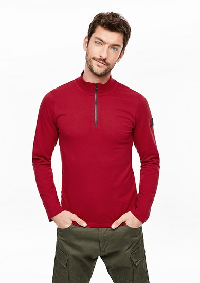 Long sleeve top with a zip from s.Oliver