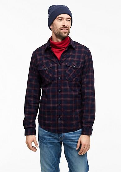 Slim: chemise à carreaux de s.Oliver
