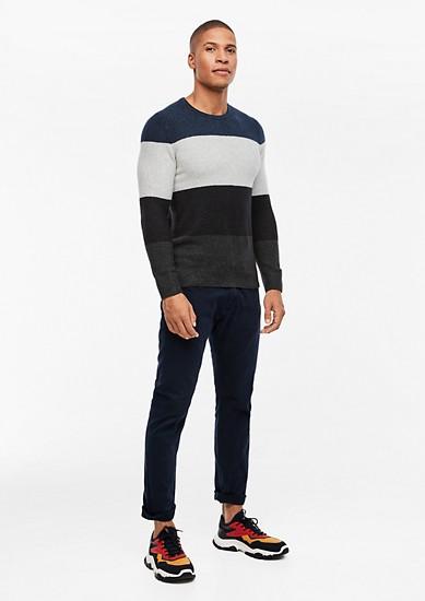 Pullover mit Blockstreifen