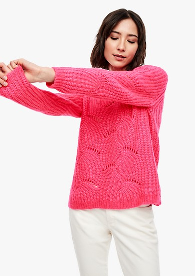 Fluffy openwork jumper from s.Oliver
