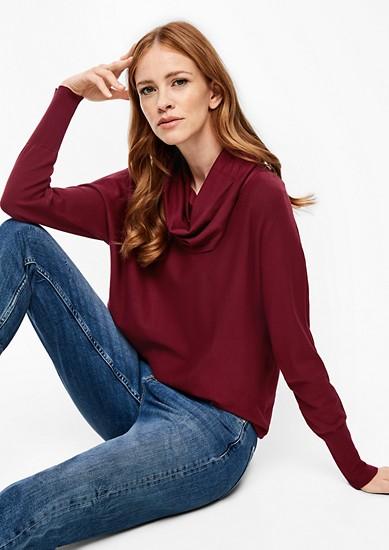 Loose Fit-Pullover mit Schalkragen