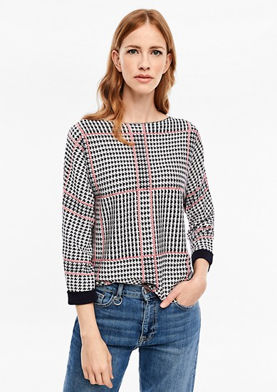 Jumper with a jacquard pattern from s.Oliver
