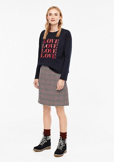Jupe courte en laine mélangée de s.Oliver