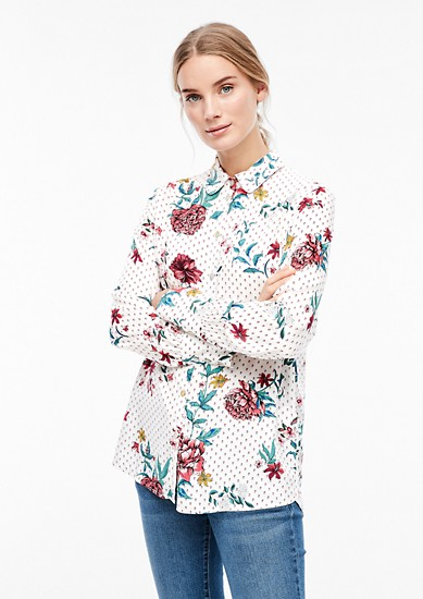 Viscose shirt blouse from s.Oliver