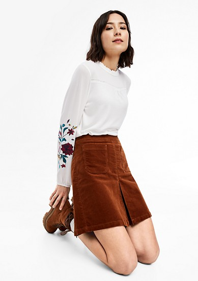Viscose top with floral details from s.Oliver
