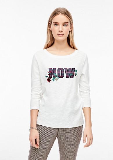 T-shirt en fil flammé à motif artistique de s.Oliver