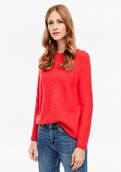 Fluffy textured mix jumper from s.Oliver