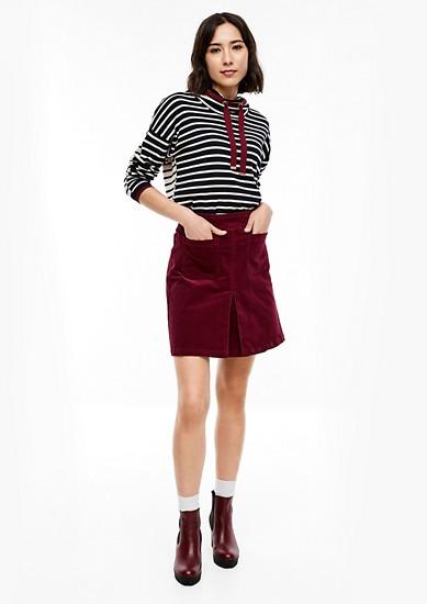 Mini-jupe en fin velours de s.Oliver