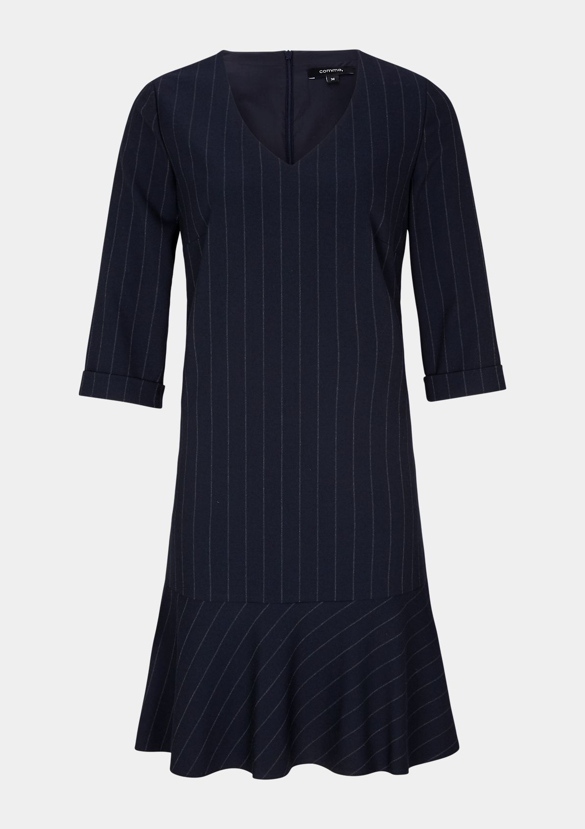Business dress with classic pinstripe pattern from comma