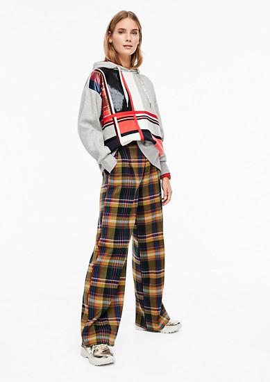 Pantalon Marlene à motif madras de s.Oliver
