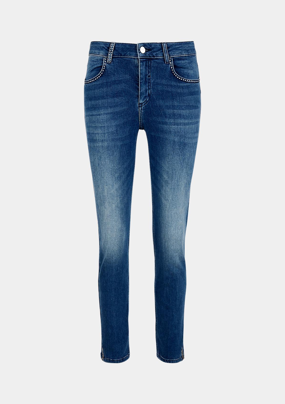 Lässige Jeans mit Used-Waschung