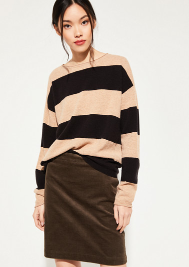 fine knit jumper with a striped pattern from comma