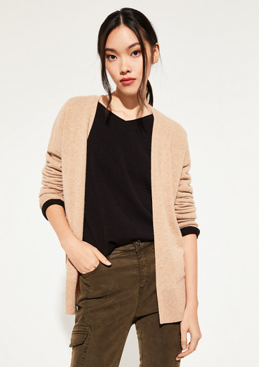 fine knit cardigan with fine details from comma