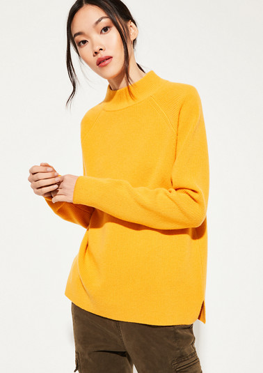 knit jumper in a ribbed look from comma