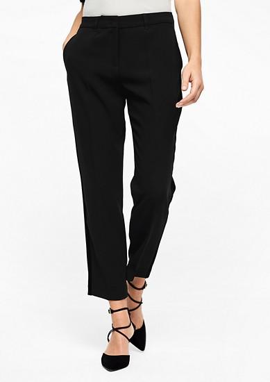 Rita Regular: kalhoty se sametovým pruhem