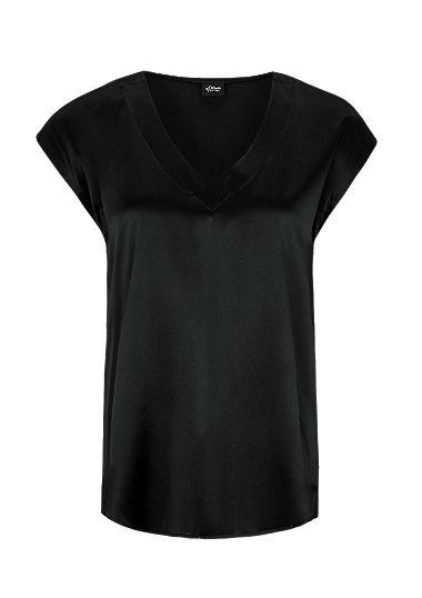 T-Shirt mit Seiden-Front