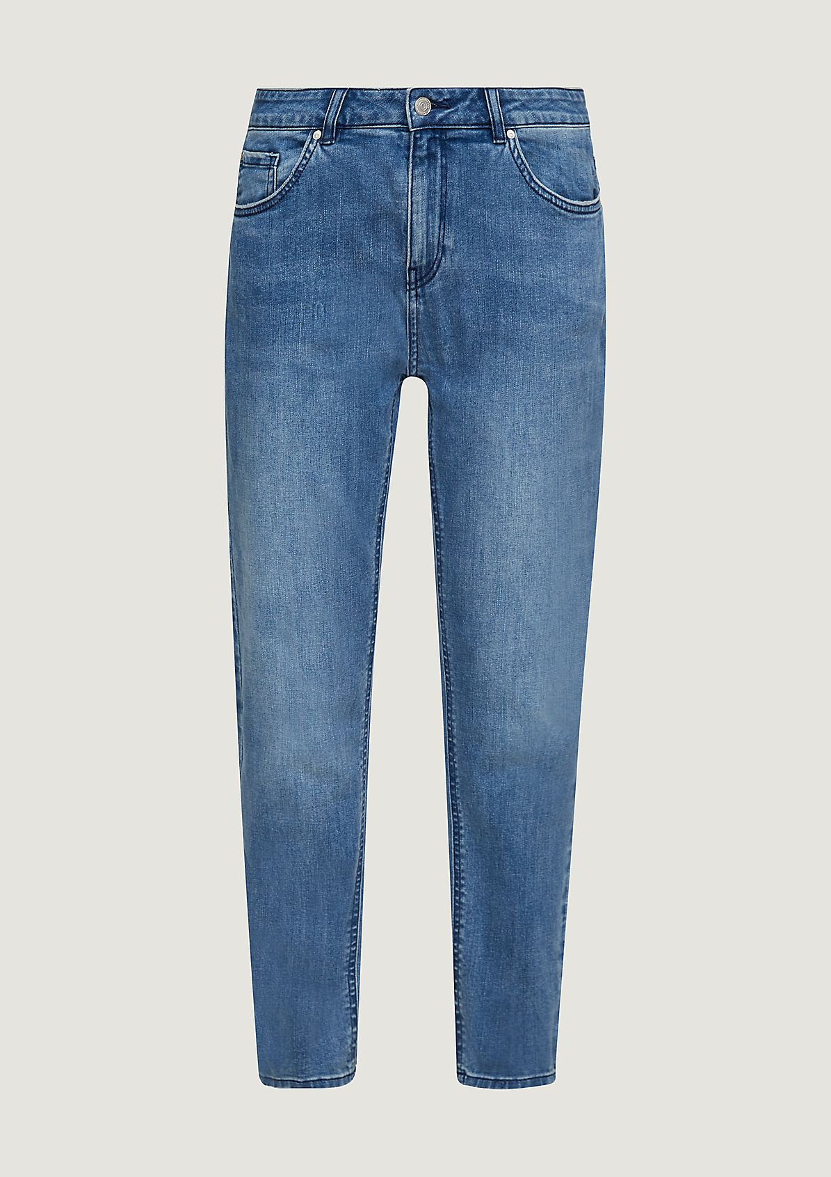 Regular Fit: Slim leg-Denim mit Wascheffekt