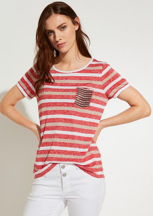 T-Shirt mit Schmuck-Applikation