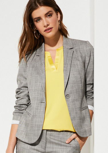 Blazer with a woven pattern from comma