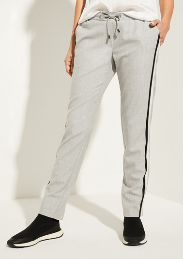 Slim Fit: slim leg trousers in an athleisure look from comma