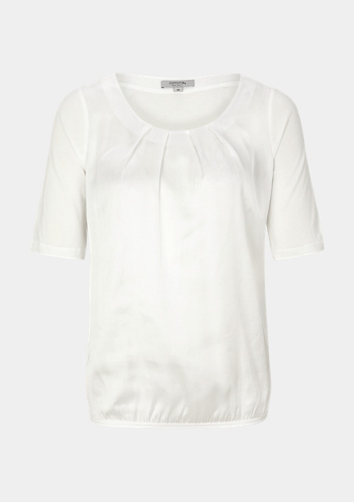 T-Shirt mit Satin-Front