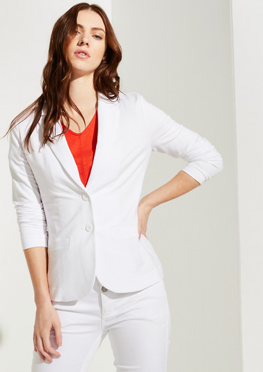 Casual jersey blazer from comma