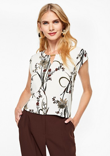 Blouse top with decorative details from s.Oliver